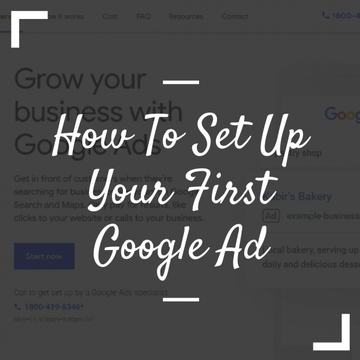 How to set up your first google Ads
